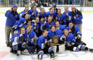 Falmouth shuts out Lewiston in Class A state hockey final