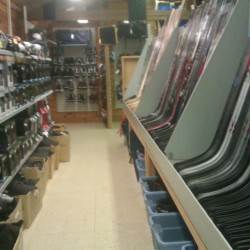 Gunn's Sports Shop specializes in skate-related sales, service