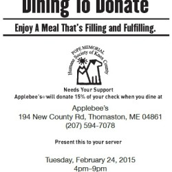 In order to participate, Applebees requires that you hand them a physical copy of this coupon (presenting it on your phone will not cut it).  You can print out a copy, or pick one up at the Shelter.