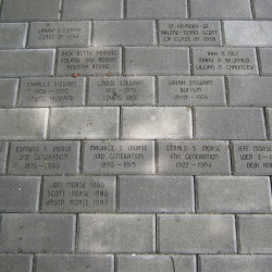 Some of the engraved pavers.