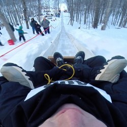 Toboggan tales differ, depending on whom you ask