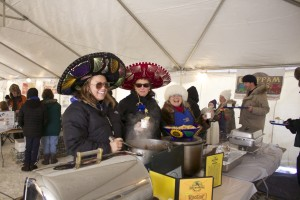 Before getting in line, we warmed up at the West Bay Rotary Chili Challenge.