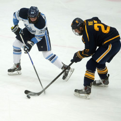 UMaine hockey player assessed one-game suspension for elbowing Merrimack defenseman