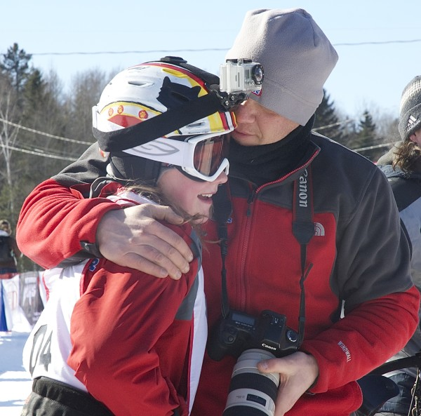 As he predicted a day earlier, Steve Renner was in tears as his daughter 12-year-old Lara finished the Can-Am Crown 30-mile sled dog race Saturday. &quotI've already cried like five times today,&quot Steve Renner said before his daughter crossed the finish line in Fort Kent. &quotI am just so proud of her.&quot