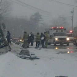 Warren woman dies in crash on Route 1