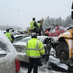 Injuries reported in five-vehicle pileup on Route 1