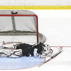 Grade's overtime goal lifts Falmouth by St. Dominic for second straight Class A hockey state title