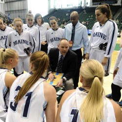 Maine women's basketball coach scouring Europe in search of future Black Bears