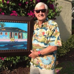 """The tropical paintings of Cumberland artist David Clough will appear on a segment of TV drama """"Criminal Minds"""" Wednesday, April 8."""