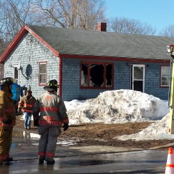 Firefighters from four towns battle house fire in Bucksport