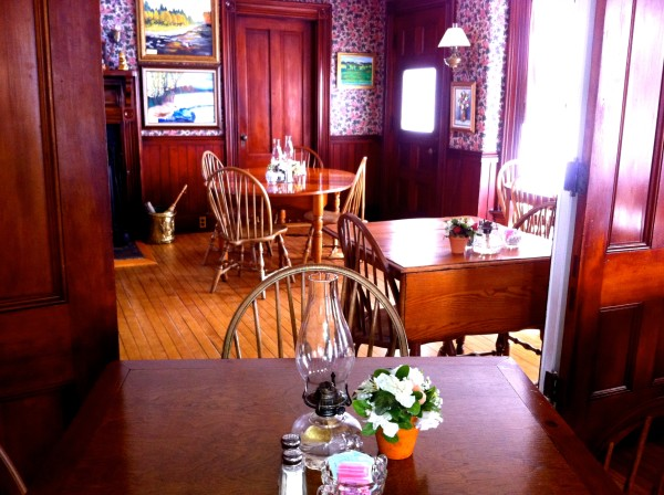 The dining room at Center Lovell Inn can be seen Tuesday in Lovell. The owner is offering the inn up to the winner of a 200-word essay.