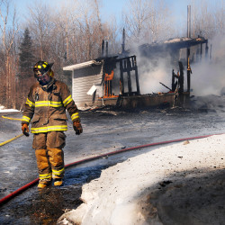 Fire destroys boat on Cold Stream Pond in Lincoln