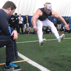 Former UMaine football players show off skills for New England Patriots scout