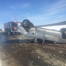 Early morning crash sends two Frenchville men to hospital