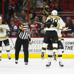 Hurricanes delay Bruins' playoff plans