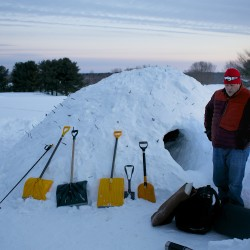 One snowcave, two BDN staffers: Relive the adventure