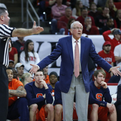 Syracuse's Boeheim feels bad for ineligible Melo and team