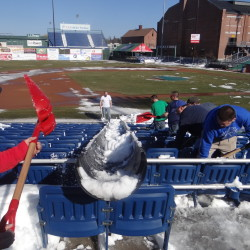 Opening day for the Portland Sea Dogs