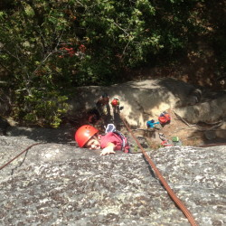 Getting high on rock climbing at Clifton Crags