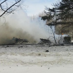 Firefighters from Lincoln, several nearby towns fight mobile home fire