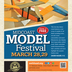 The Midcoast Model Festival is a popular family event that will take place at the Owls Head Transportation Museum on March 28 and March 29.