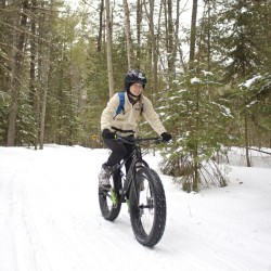 Frozen trails mean the start of winter mountain bike riding