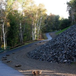 Forest Ave entrance of the Michaud Trail where post fencing will be going.
