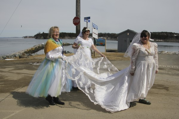 Wedding gowns, costumes add splash of fun to benefit event in Lubec ...