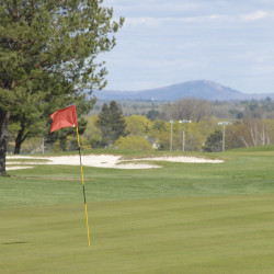 The First Tee may prove a big hit at Bangor Municipal Golf Course; Enman volunteers as target