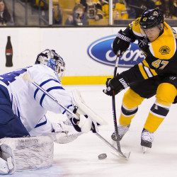 Krug's blast lifts Bruins past Penguins in OT