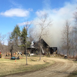 Fast moving fire guts historic home in Dresden