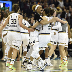 McBride propels Notre Dame by Maryland, into national final vs. UConn