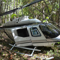 Helicopter crash in Lincoln County leaves pilot uninjured