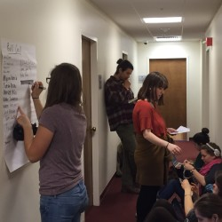 Bowdoin students stage sit-in outside president's office