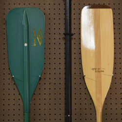 Paddles are seen at Old Town Canoe Co. in Old Town recently.