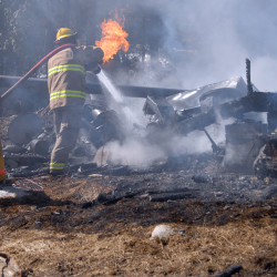 Firefighters hindered as Lakeville cabin burns