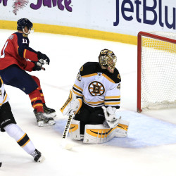 Rask just misses shutout as Bruins beat Panthers