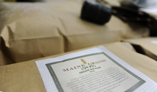 Organic rye flour is milled at the Maine Grains grist mill in Skowhegan.
