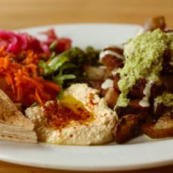 A vegan Mediterranean meal