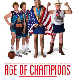 The documentary Age of Champions tells the stories of five competitors who sprint, leap, and swim for gold at the National Senior Olympics.