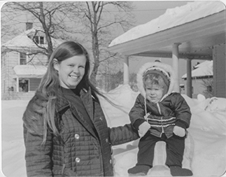 Susan Flagg and son Jason Flagg in 1974