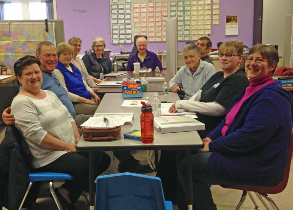 Photo Caption: Participants in the Deer Isle-Stonington Diabetes Prevention Program are seeing small lifestyle changes add up to big results. Participants in the free prevention program meet on Mondays from 4:00 -5:00 p.m. at the Deer Isle-Stonington High School. The program is made possible by  a collaborative effort between MDI Hospital's Coastal Care Team, Healthy Acadia and the Blue Hill Memorial Hospital.
