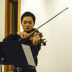 Richard Hsu on violin