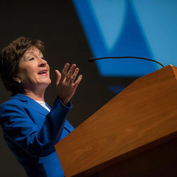 Eggs and Environmental Issues with U.S. Senator Susan Collins