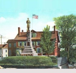 National Guard helps Orono Historical move monument base