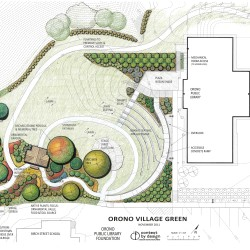 Fundraising underway in Orono for amphitheater, green space behind library