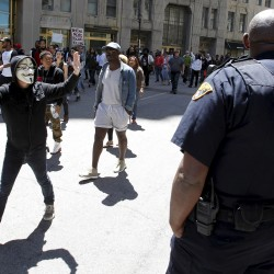 California protests at Trayvon Martin verdict mostly peaceful