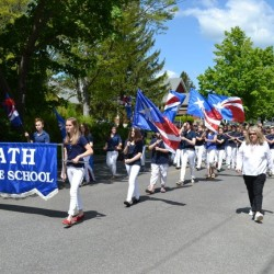 The Bath Middle School Band marches in a previous Bath Memorial Day parade.