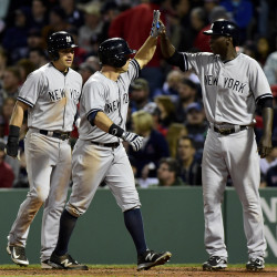 Yankees rally three times, edge Red Sox on Gardiner homer