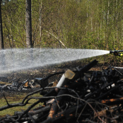 Multi-town firefighter wildfire training on April 27